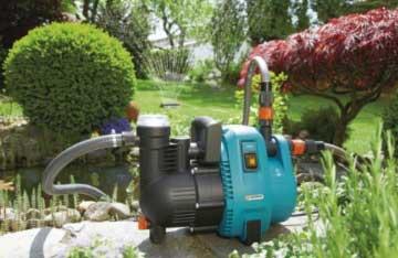 Gartenpumpe Gardena 1732-20 Comfort Gartenpumpe 4000/5 im Einsatz