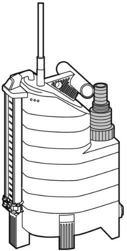 GARDENA Comfort Schmutzwasserpumpe 13000 aquasensor technische Zeichnung