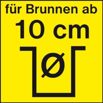 T.I.P. 30086 Tiefbrunnenpumpe für 10cm Brunnen Durchmesser