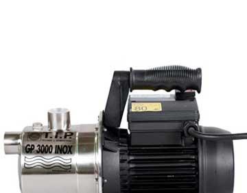 T.I.P. 30111 Gartenpumpe Edelstahl GP 3000 Inox Nahansicht